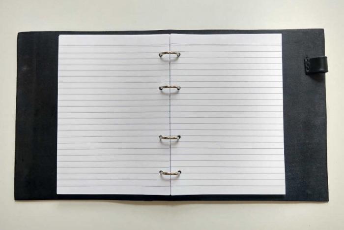 Papíry k obalu na zápisník A4