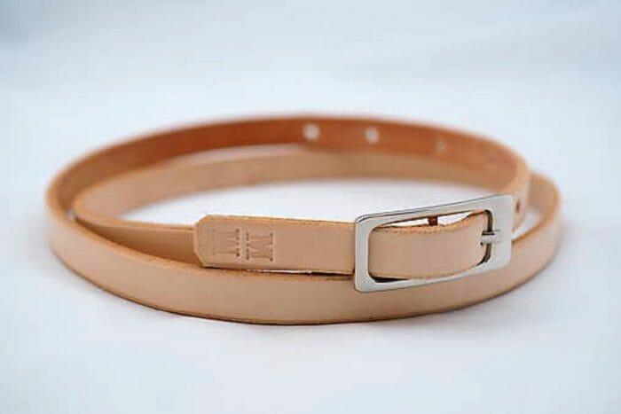 Úzký kožený pásek