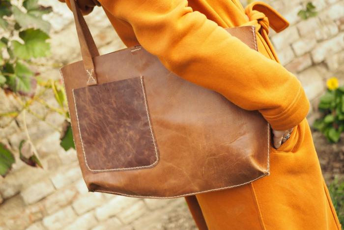 Kožená kabelka Lucca