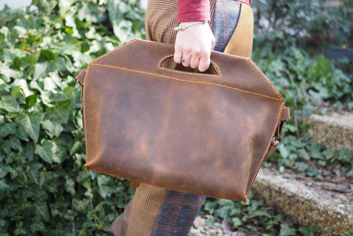 Kožená kabelka Adro