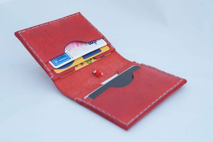 Kožený obal Slim na kreditky