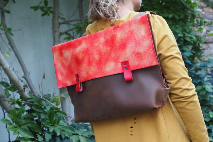 Kožený batoh Cefalú