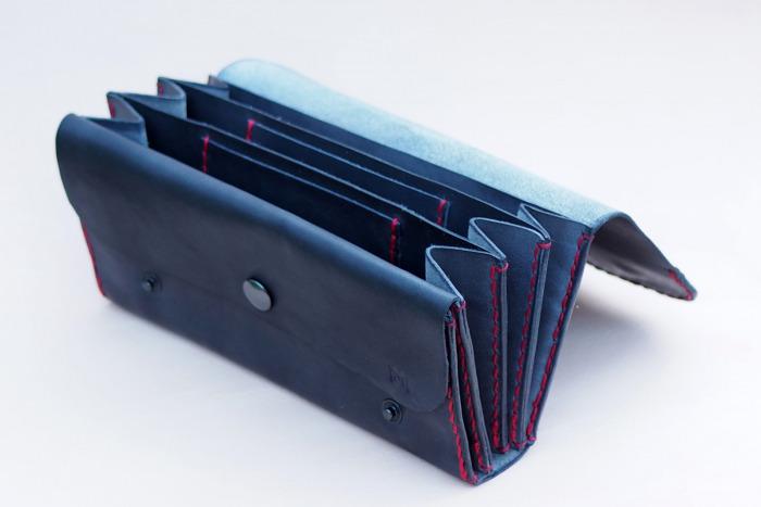 Dámská kožená peněženka kasírka