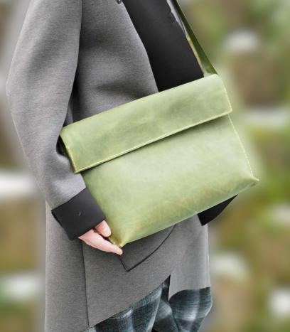 Kožená kabelka zelená