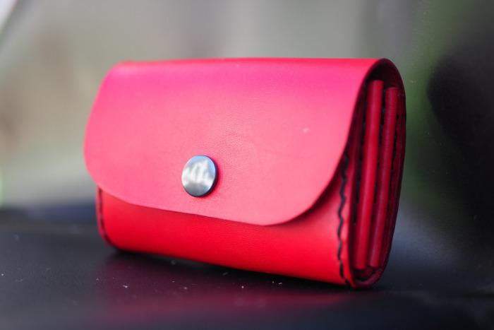 Malá kožená peněženka ve stylu kasírka
