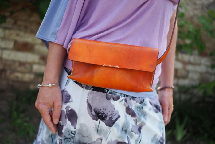 Kabelka Adél oranžová vintage