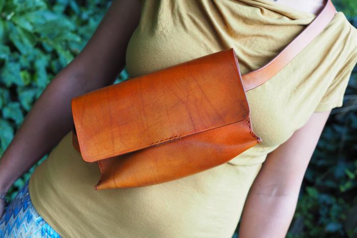 Ledvinka Adél oranžová vintage